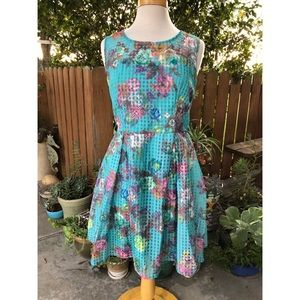 Filly Flair Floral & Plaid Dress